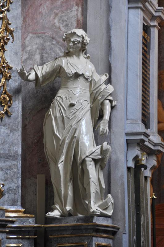 16. Detal z rokokowego ołtarza bocznego p.w. św. Anny z 1722-24 r.