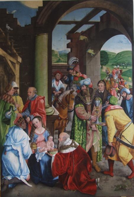 2. Obraz tablicowy Pokłon Trzech Króli, 1 ćwierć XVI w.