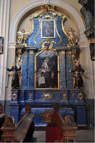 22. Barokowy ołtarz boczny p.w. św. Antoniego, II poł. XVIII w.