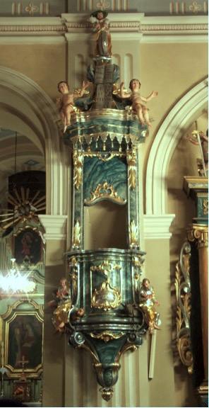 23. Barokowa ambona, XVIII w.