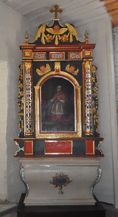 30. Manierystyczny ołtarz boczny p.w. bł. Karola Boromeusza, XVII w.
