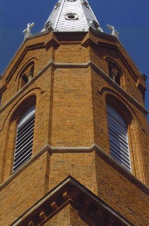 Wieża kościoła par. p.w. św. Marcina w Połańcu, woj. świętokrzyskie